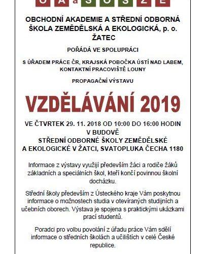 plakátek vzdělávání