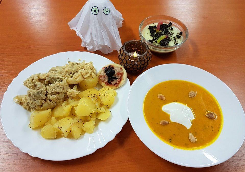 Halloweenské menu v jídelně